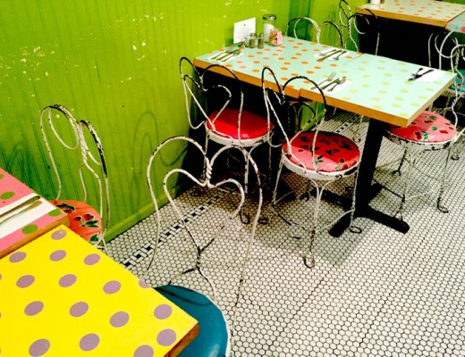 kitchenette polka table